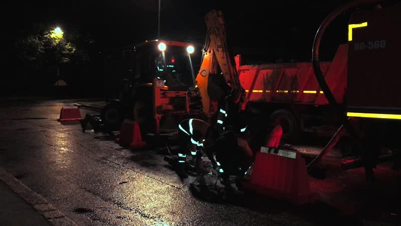 Вторая авария на водопроводе возле башни Ратуши