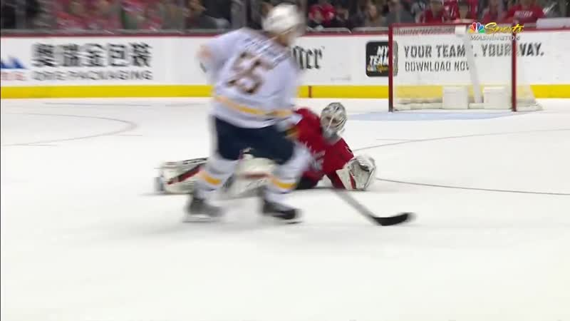 GOTTA SEE IT- Braden Holtby Comes All The Way Out To The Blue Line To Make Crazy Sliding Play
