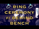Pregame ring ceremony from behind Warriors bench, before Opening Night at Oracle Arena vs OKC