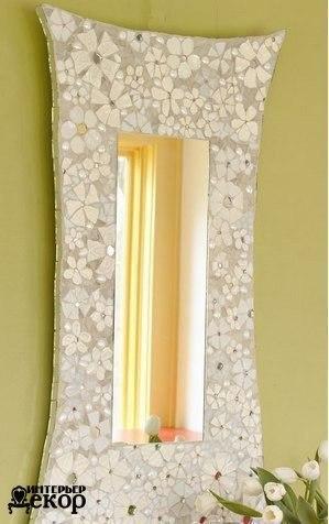 Декор рамы зеркала своими руками (6 фото) - картинка