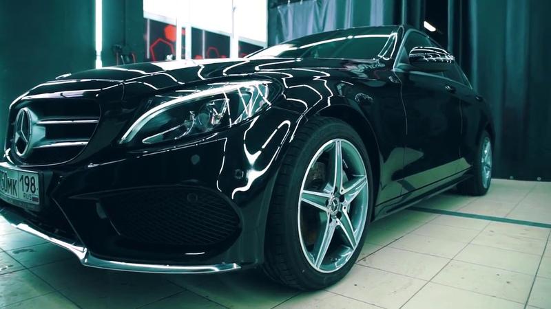 Оклейка в полиуретан Hexis Bodyfence Mersedes Benz W205 by ALEKSEY KIEVSKIY