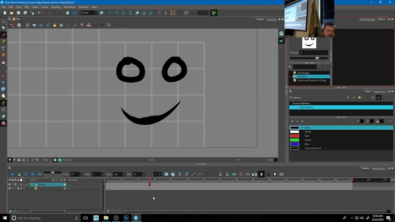 3dAnim002 - 2d Face Rig in Maya