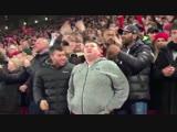 A blind fan celebrates Mo Salahs goal