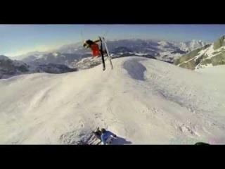 Классно покатался или скоростной спуск на лыжах