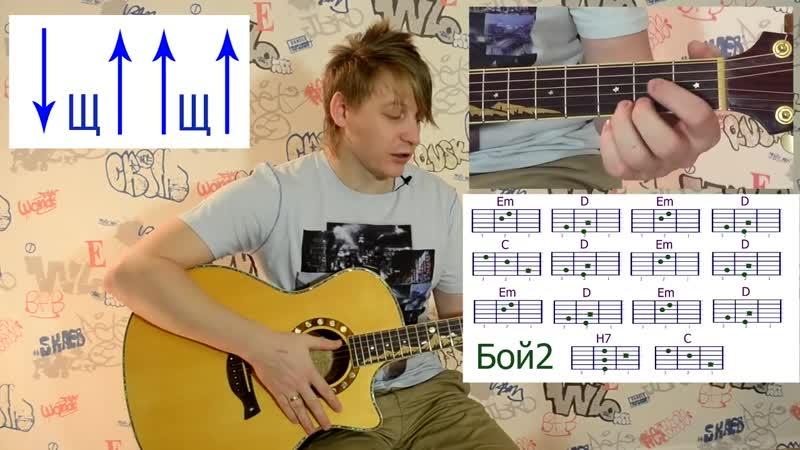 [Гитара с нуля- уроки игры на гитаре] Обучение игре на гитаре (урок3)как быстро переставлять аккорды использовать разные бои на