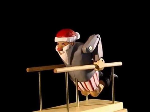 Training for Christmas Exercising Santa Automaton