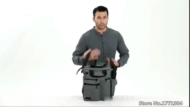 Мужская многофункциональная сумка с отверстием для наушников Водонепроницаемая нейлоновая дорожная сумка большой емкости для хра
