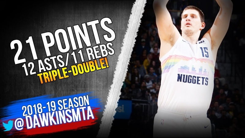 Nikola Jokic Triple Double 2019 01 19 Nuggets vs Cavs 19 12 11 FreeDawkins