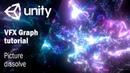 Гайд как сделать растворение картинки частицами в Unity VFX Graph
