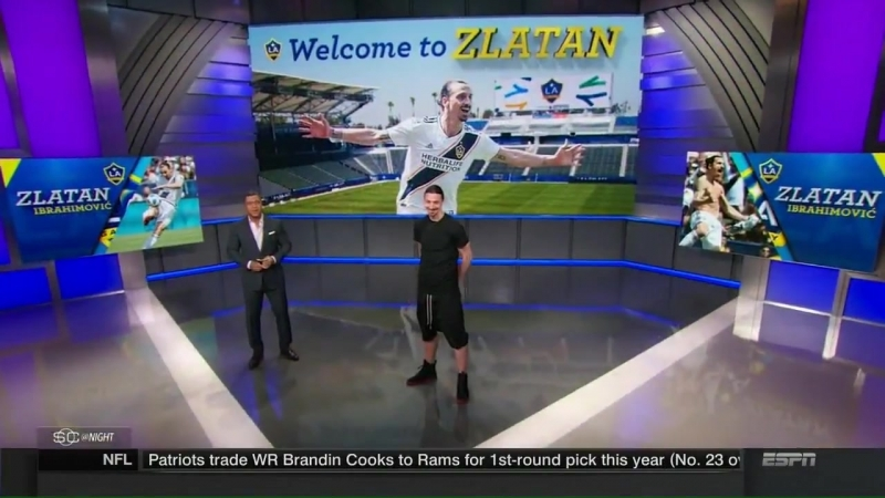 Zlatan Ibrahimovic visits ESPNs SportsCenter
