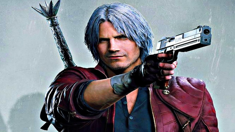 Devil May Cry 5 - Dante Gameplay Devil Trigger, New Weapons, Abilities Boss Fight