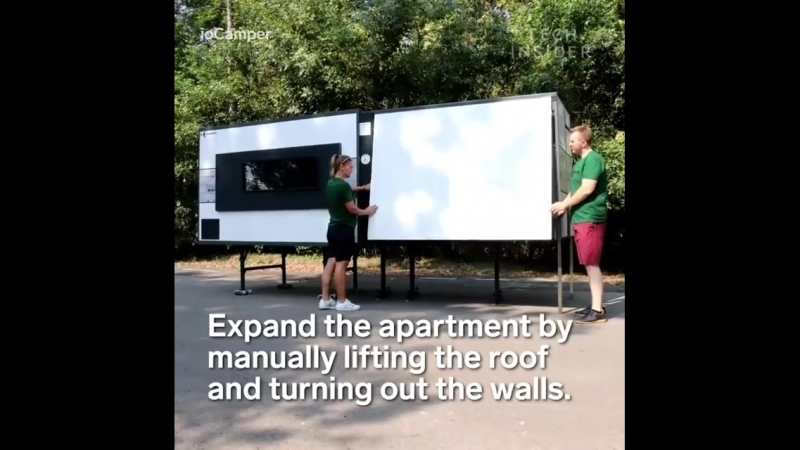IoCamper - The Transportable Folding Apartment by Tamas Laczko