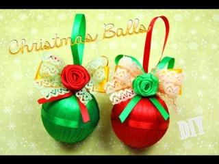 Как сделать НОВОГОДНИЕ ШАРИКИ своими руками! Мстер-класс / DIY Christmas balls