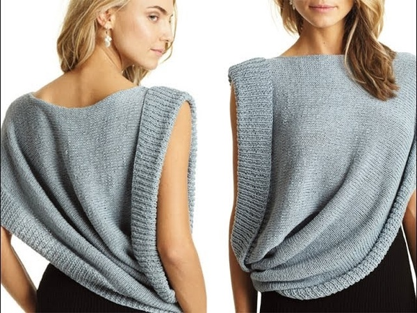 16 Asymmetrical Draped Top, Vogue Knitting Spring/Summer 2013