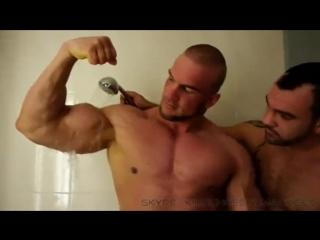 German muscle god wet worship