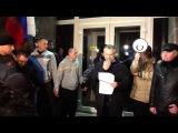 Выступление А. Чалого около здания Администрации в Севастополе 25.02.14