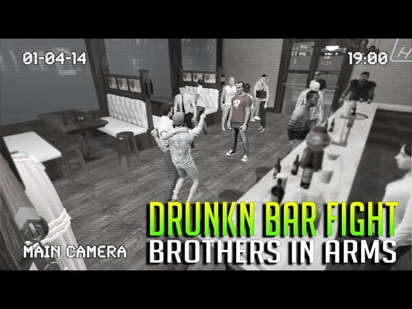 BROTHERS IN ARMS • DRUNKN BAR FIGHT VR MULTIPLAYER - HTC VIVE GAMEPLAY