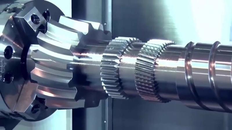 Amazing CNC Machine Lathe Working Complete Crankshaft And Technology Making An Aerospace Component