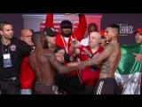 Terence Crawford throws punch at Jose Benavidez - Weigh In