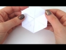 ♡ Движущиеся оригами из бумаги Гексафлексагон HEXAFLEXAGON ENDLESS CARD