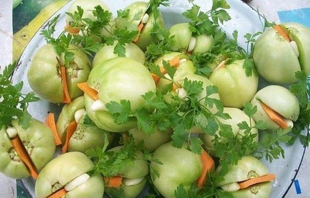 Рецепты заготовки салатов из зеленых помидор