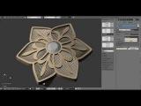 Jewelry design: Blue Flower modelling rendering timelapse