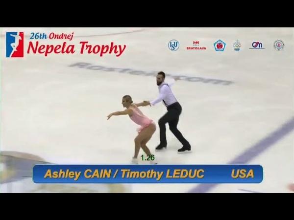 Ashley CAIN Timothy LEDUC USA SP Ondrej Nepela Trophy 2018