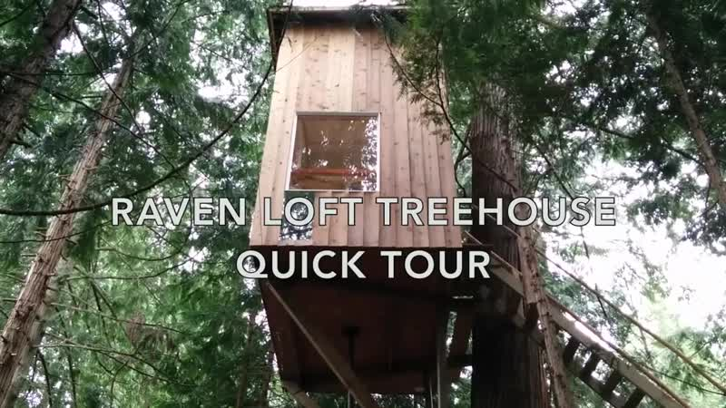 Домик на дереве Incredible tiny house treehouse tour Raven Loft Treehouse