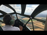 De Havilland Dragon Rapide G-AIDL flight - pilots eye view