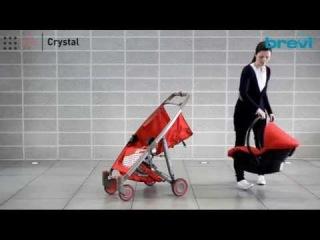 Коляска трансформер Brevi Crystal. Автокресло-переноска
