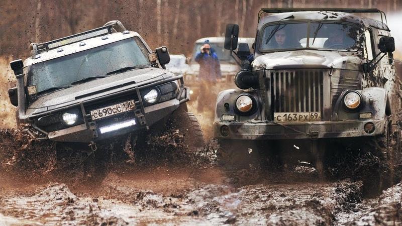 МАЖОРЫ VS Военная техника в грязевой ПАШНЕ TOYOTA MERCEDES JEEP Wrangler NISSAN против ГАЗ УАЗ