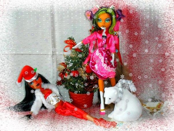 Игра Украшаем новогоднею Ёлку +арты монстр хай