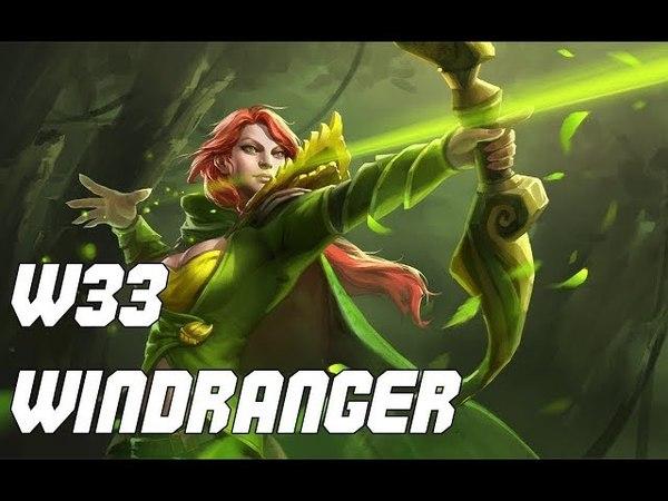 W33 Top 2 Rank Windranger 7.16 Patch Dota 2
