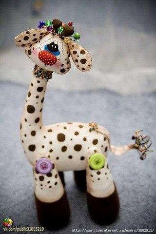 Текстильная игрушка жирафик. Выкройка и МК… (2 фото) - картинка