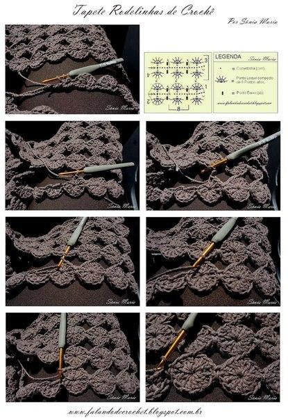 Безотрывное вязание кружочки крючком 79