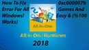 How To Fix 0xc000007b Error For All Games And Windows! Easy (%100 Works) (AIO Runtime)