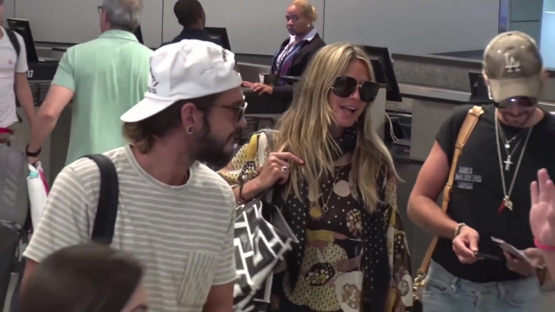 12.08.2018 - Билл, Том и Хайди, аэропорт LAX, Лос-Анджелес, США