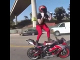 KiKi Do You Love Me Dance Challenge (Shiggy Dance) win , motorcycle edition