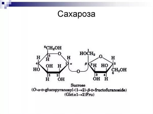 Разница между глюкозой и сахарозой