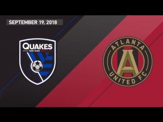 Highlights: san jose earthquakes vs atlanta united fc | september 19, 2018
