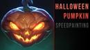Digital speedpainting - Halloween Pumpkin - Jack-o'-lantern in Krita
