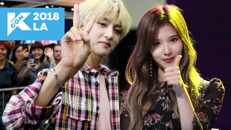 MEETING K-POP IDOLS IN REAL LIFE! (KCON LA Vlog 2)