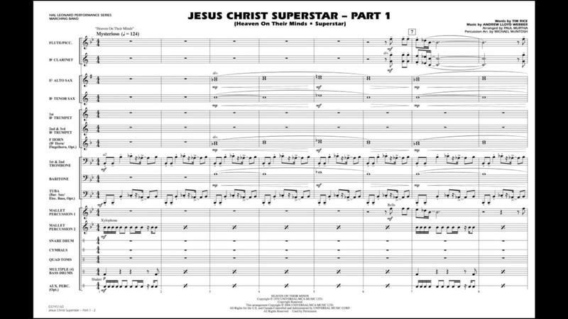Jesus Christ Superstar - Part 1 by Andrew Lloyd Webberarr. Paul Murtha