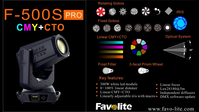 F-500S pro(300W LED SPOT with CMYCTO),Favolite lighting