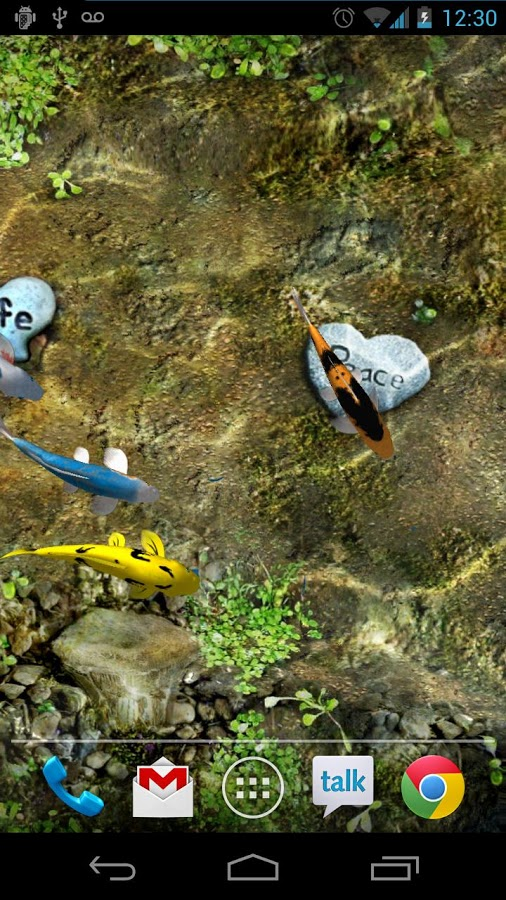Koi Live Wallpaper - живые обои для android с рыбками