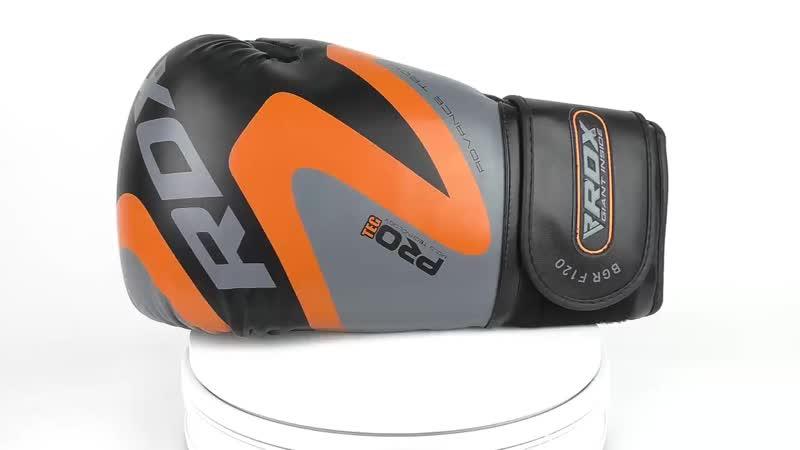 Перчатки для бокса RDX Boxing Gloves REX F12 Orange-1.mp4