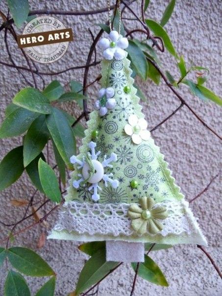 Оригинальные украшения из фетра. Новогодние идеи…. (6 фото) - картинка