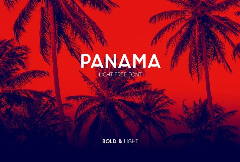 Panama Light шрифт скачать бесплатно