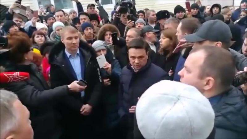 ВОЛОКОЛАМСК 21 03 2018 девочка и губернатор Воробьев