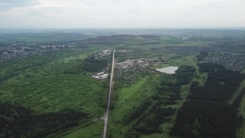 Киселевск с высоты 476м. Афонинская гора.HD
